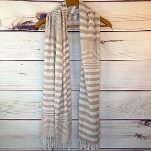 Joe Boxer Striped Scarf with Fringe